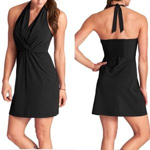Athleta Go Anywhere Halter Dress in Black